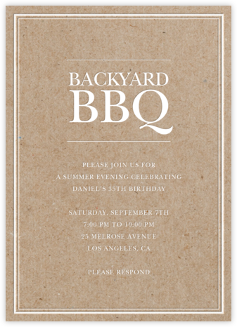 Chipboard Classic - Sugar Paper - Online Party Invitations