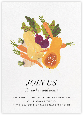 Market Table - Paperless Post - Thanksgiving invitations