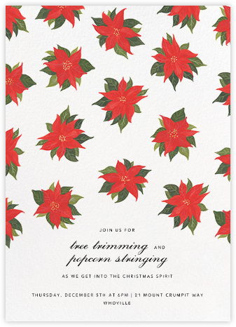 Painted Poinsettias - Paperless Post - Online Party Invitations