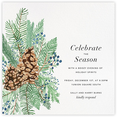 Juniper and Pine - Paperless Post - Holiday party invitations