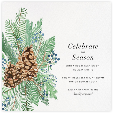 Juniper and Pine - Paperless Post - Holiday invitations