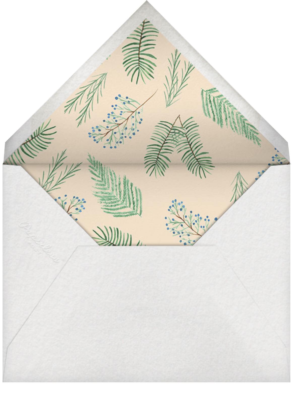 Juniper and Pine - Paperless Post - Winter entertaining - envelope back