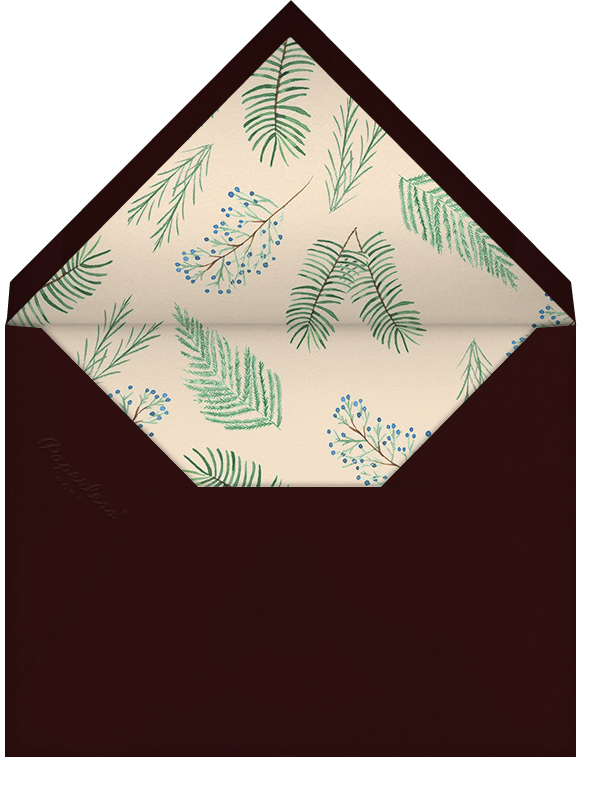 Juniper and Pine - Paperless Post - Company holiday party - envelope back