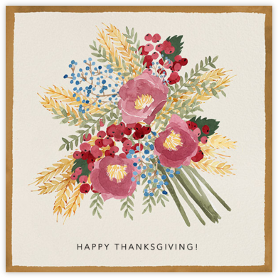 Harvest Bouquet - Paperless Post - Holiday cards