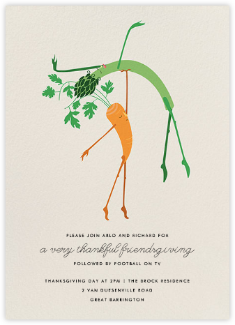 Waltz of the Vegetables - Paperless Post - Thanksgiving invitations