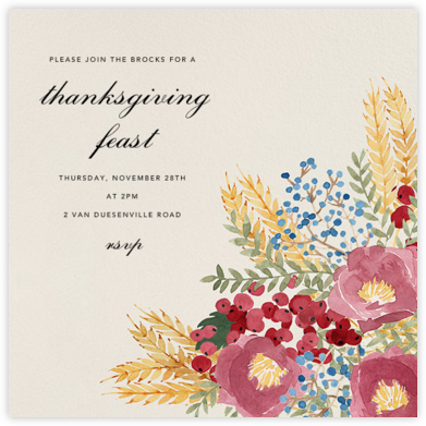 Harvest Bouquet - Square - Paperless Post - Fall Entertaining Invitations