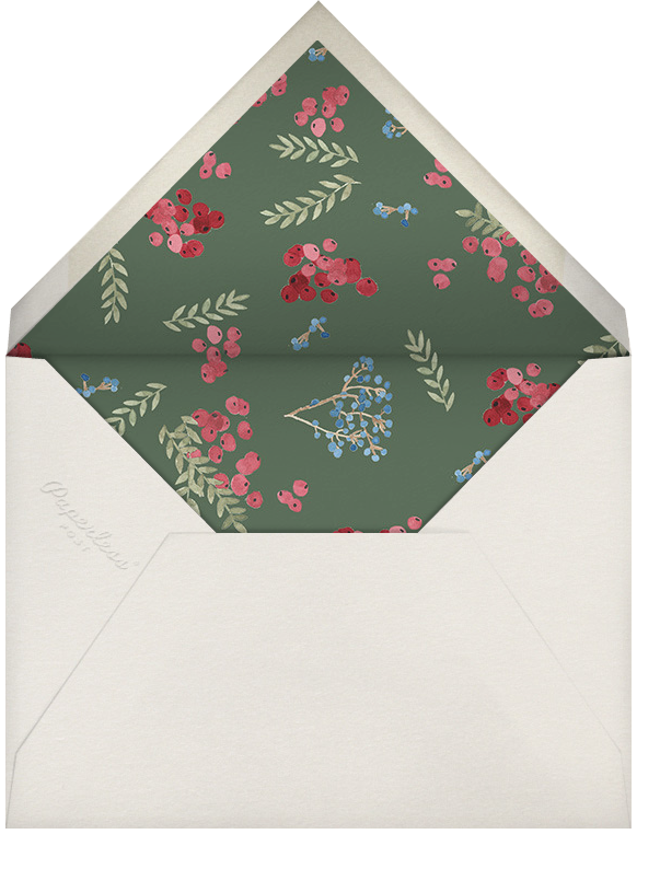 Harvest Bouquet - Square - Paperless Post - Autumn entertaining - envelope back