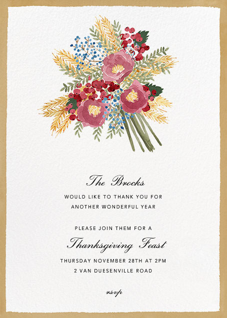Harvest Bouquet - Tall - Paperless Post - Thanksgiving invitations
