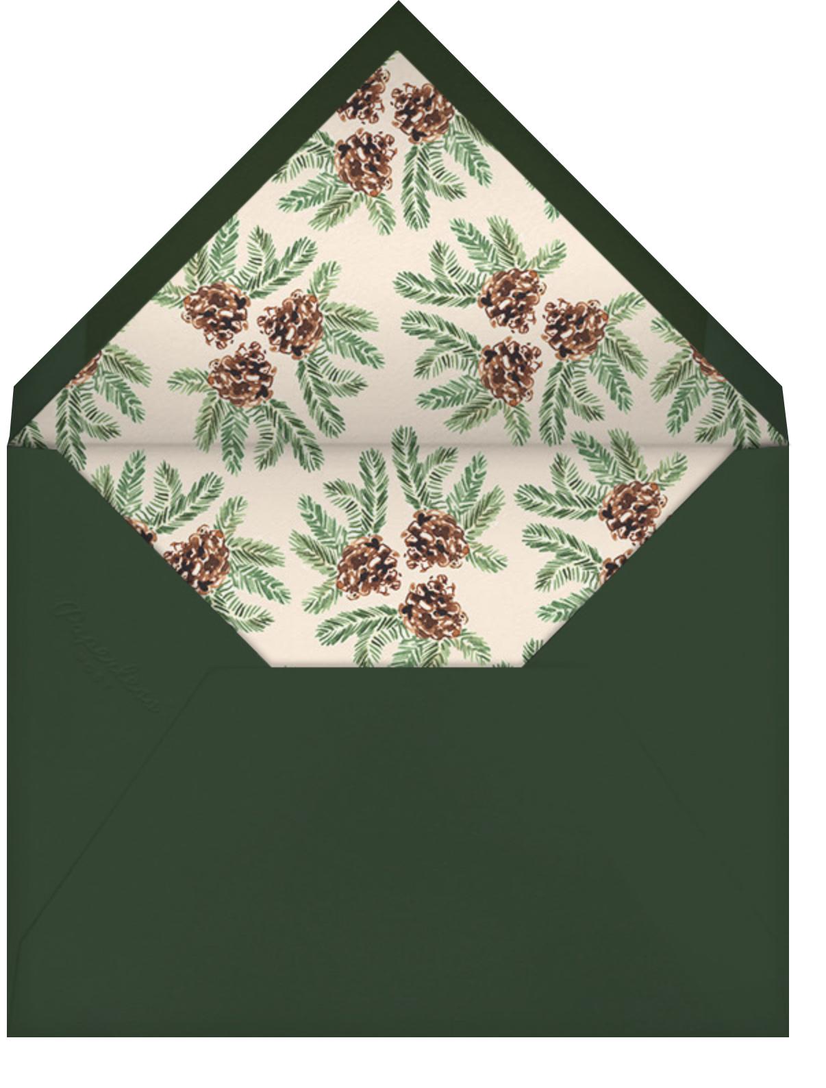 Painted Pine Cones - Paperless Post - Winter parties - envelope back
