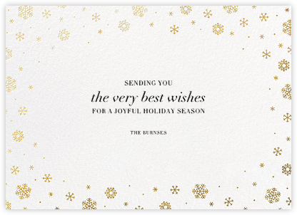 White Out (Horizontal) - Gold - Paperless Post - Company holiday cards