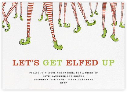 Twinkle Toes - Paperless Post - Holiday party invitations