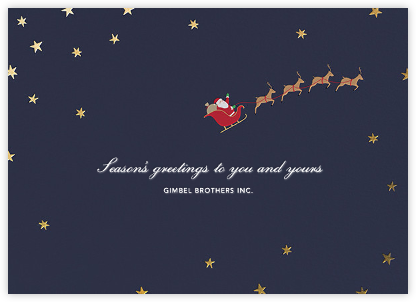 Nightly (Christmas) - Gold - Paperless Post - Business Party Invitations