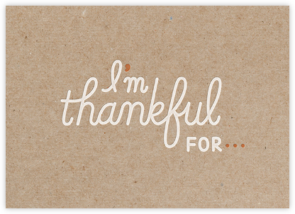 I Statement - Paperless Post - Thanksgiving Cards