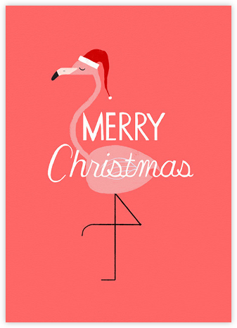 Merry and Bright Pink - Paperless Post - Christmas Cards