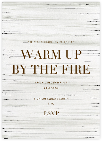 Birch Bark - Paperless Post - Holiday invitations