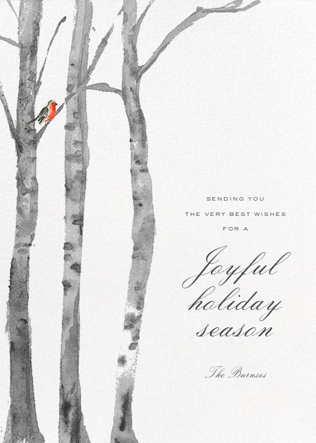 Birchwood (Greeting) - Paperless Post - Holiday cards
