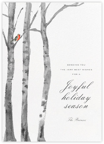 Birchwood (Greeting) - Paperless Post - Company holiday cards