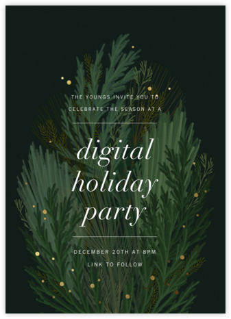 Wild Winter Bouquet - Paperless Post - Winter Party Invitations