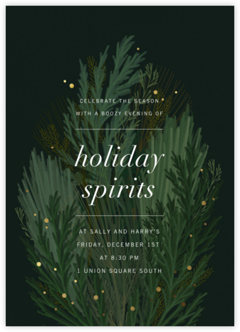 Wild Winter Bouquet - Paperless Post - Holiday party invitations