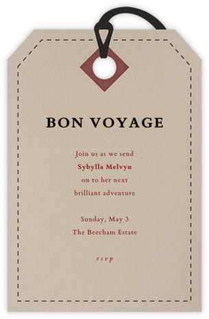Luggage Ticket - Paperless Post - Online Party Invitations