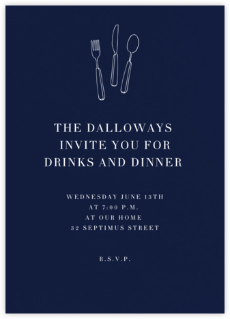 Navy (Tall) - Paperless Post - Dinner Party Invitations