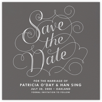 Traditional Fancy - Crate & Barrel - Save the dates