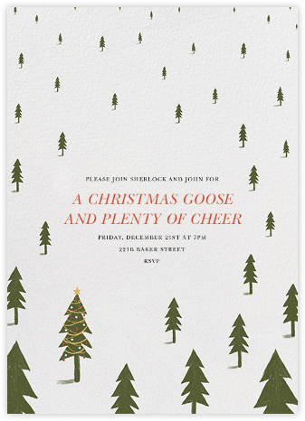 Christmas Tree Forest - Paperless Post - Online Party Invitations