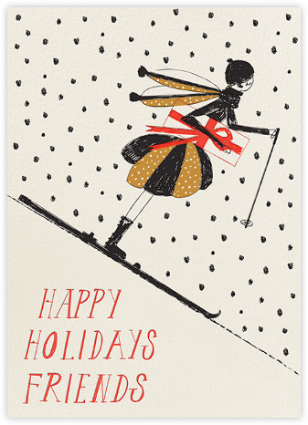 Swooshing Down the Slopes - Mr. Boddington's Studio - Holiday cards