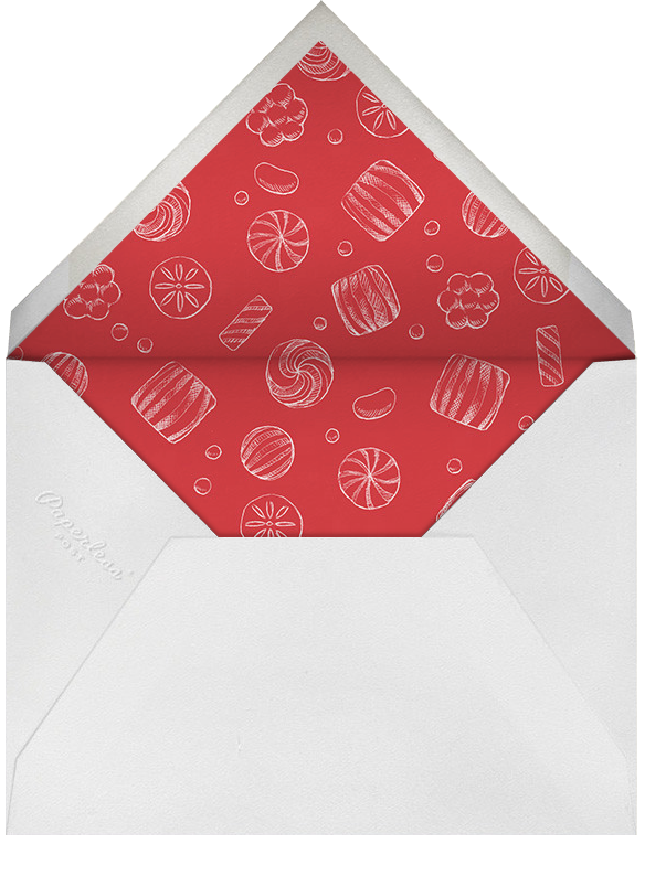 Gingerbread Blueprint - Paperless Post - Holiday party - envelope back