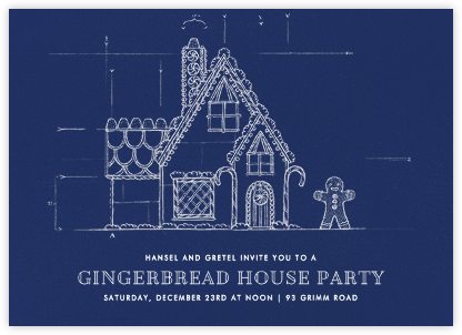 Gingerbread Blueprint - Paperless Post - Business Party Invitations