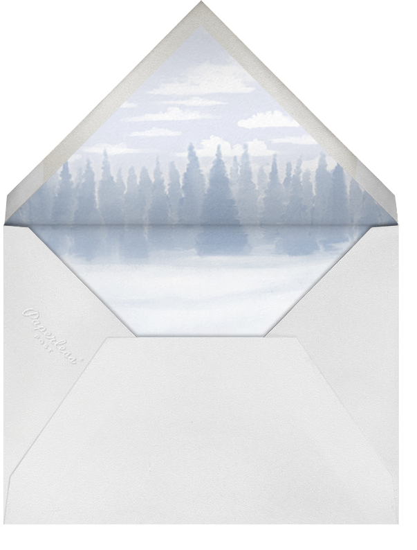 Through The Woods - Paperless Post - Holiday cards - envelope back