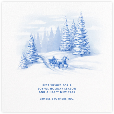 Through The Woods - Paperless Post - Company holiday cards