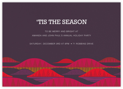 Kultakero - Purple - Marimekko - Holiday invitations