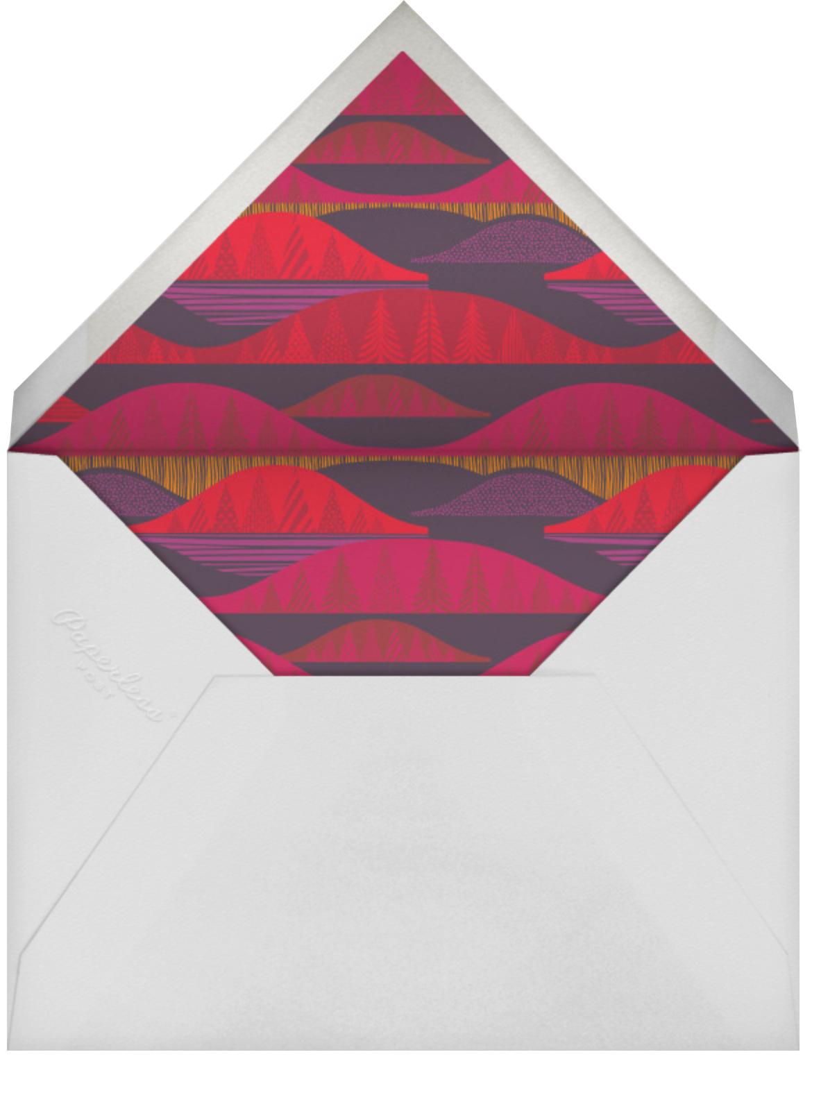 Kultakero (Photo) - Purple - Marimekko - Holiday cards - envelope back