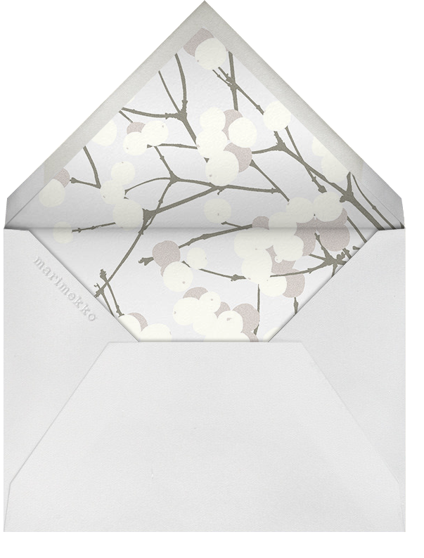Lumimarja - Grey - Marimekko - Winter entertaining - envelope back