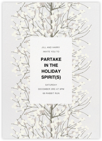 Lumimarja - Grey - Marimekko - Winter Party Invitations