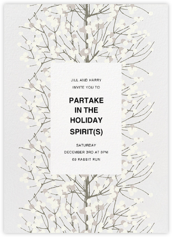 Lumimarja - Grey - Marimekko - Winter entertaining invitations
