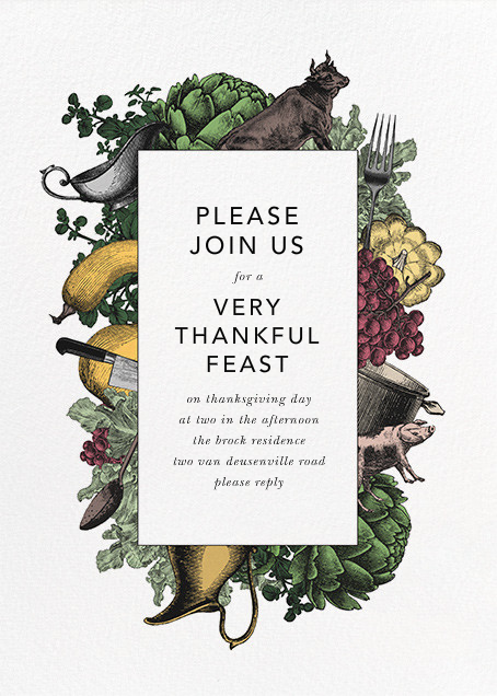 Farmer's Feast - Paperless Post - Thanksgiving invitations