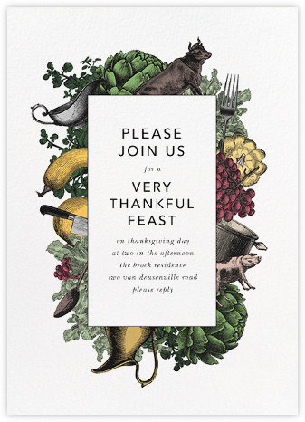 Farmer's Feast - Paperless Post - Thanksgiving invitations