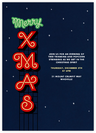 Xmas on the Strip - Paperless Post - Invitations