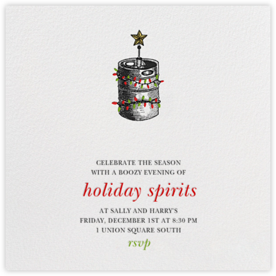 Kristmas Kegger - Paperless Post - Invitations