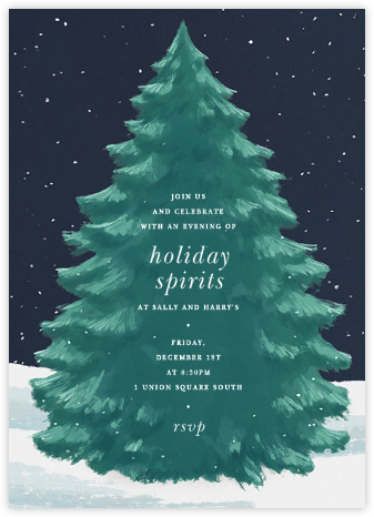 The Great Tree - Paperless Post - Winter entertaining invitations