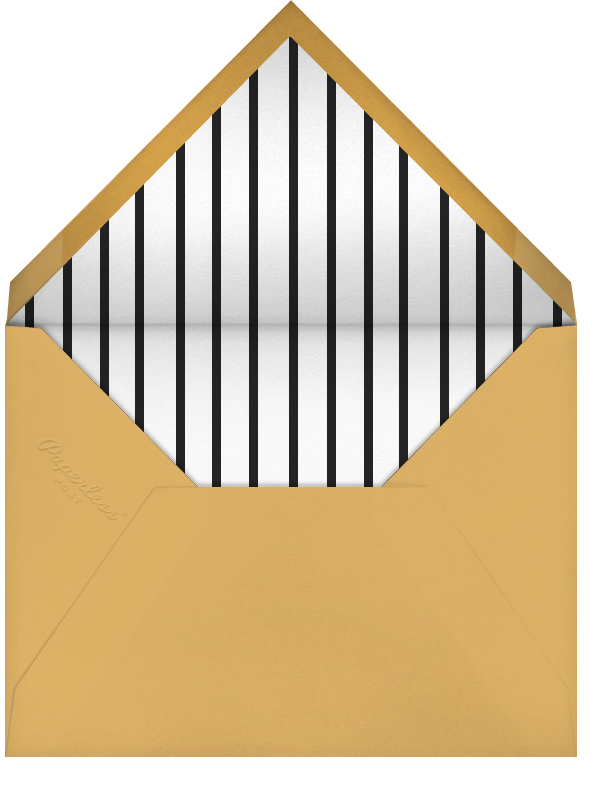 Butler in the Ice Bucket - Apricot - Paperless Post - Holiday party - envelope back