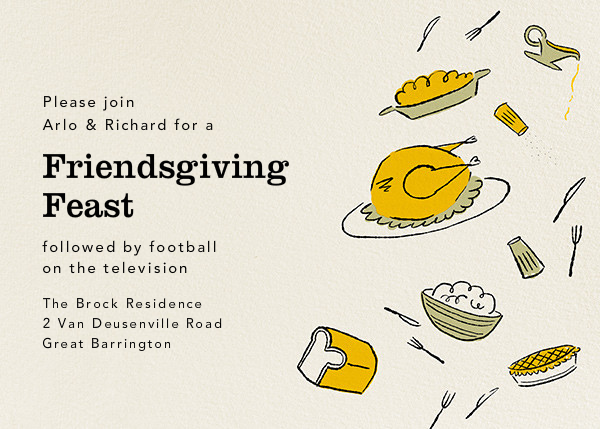 Fifties Feast - Paperless Post - Thanksgiving invitations