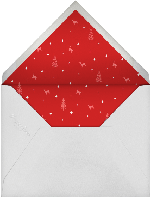 Snow Pine Valley (Horizontal) - Gold - Paperless Post - Christmas - envelope back