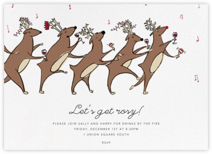 Reindeer Hop - Paperless Post - Business Party Invitations