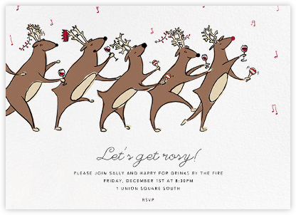 Reindeer Hop - Paperless Post - Holiday invitations
