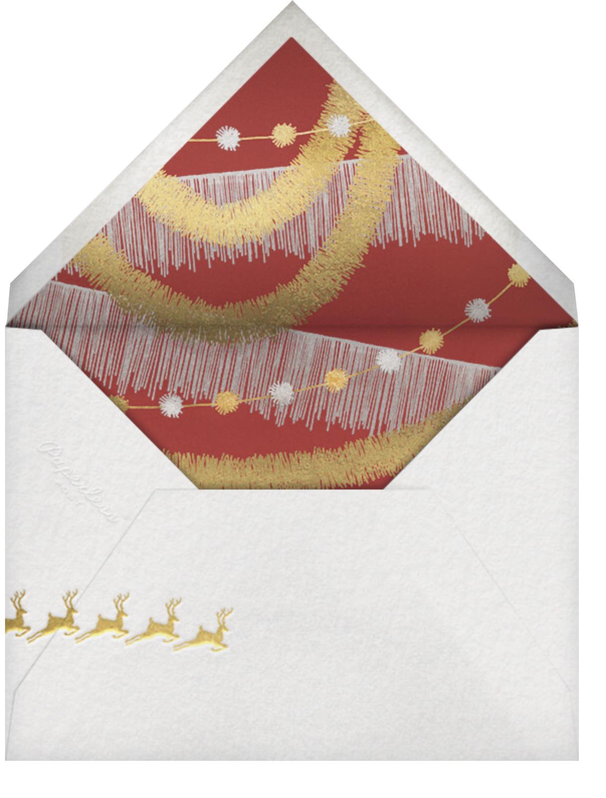 Reindeer Hop - Paperless Post - Christmas party - envelope back