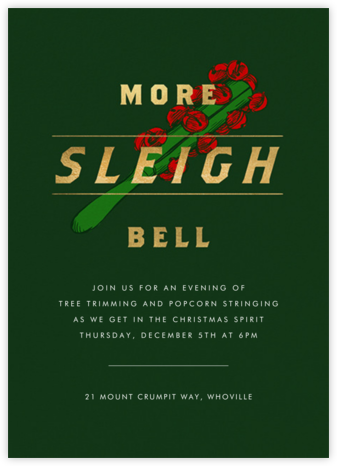 More Sleigh Bell - Paperless Post - Winter Party Invitations