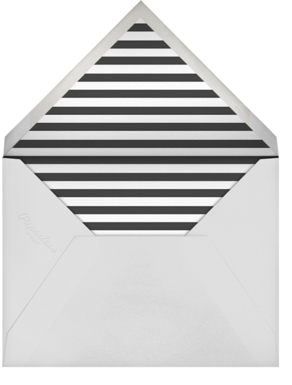 Celebration Stripe - Black/Gold - Sugar Paper - Adult birthday - envelope back